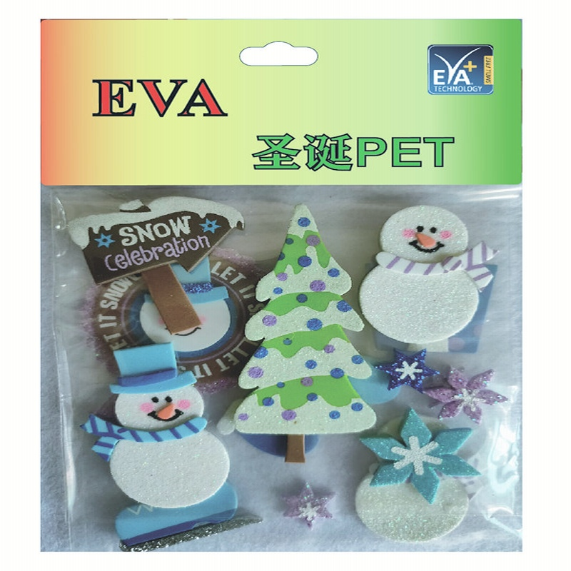 Foam stickers PET Foam Glitter PET  Foam christmas PET